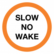 Slow No Wake Portage Signs