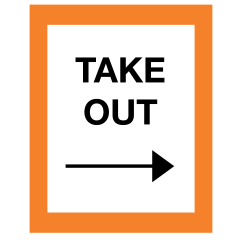 Take Out Warning Sign - Right