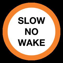 Slow No Wake Portage Signs